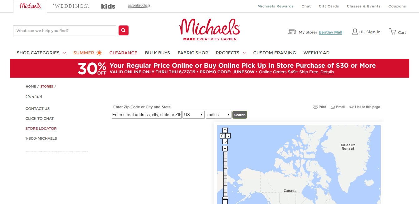 Michaels-Store-Locator