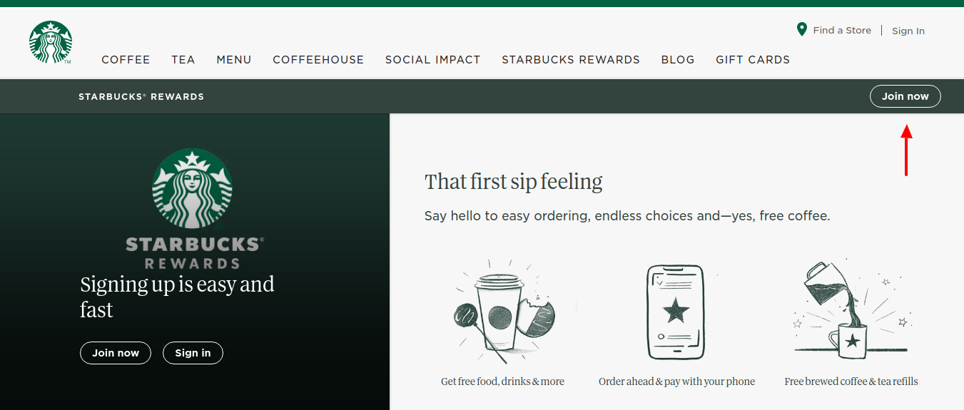 Starbucks-Rewards-program-Join-now