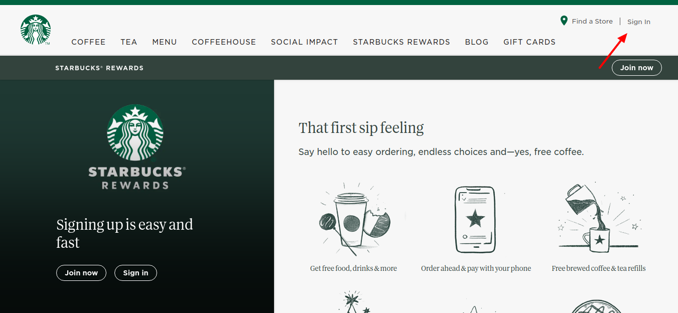 Starbucks-Rewards-program-Sign-In