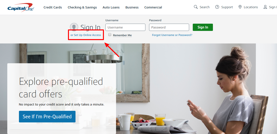 Capital One Credit Cards Set Up Online Access