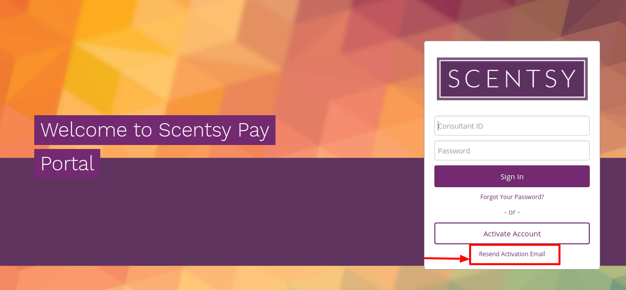 Scentsy Family Resend Email