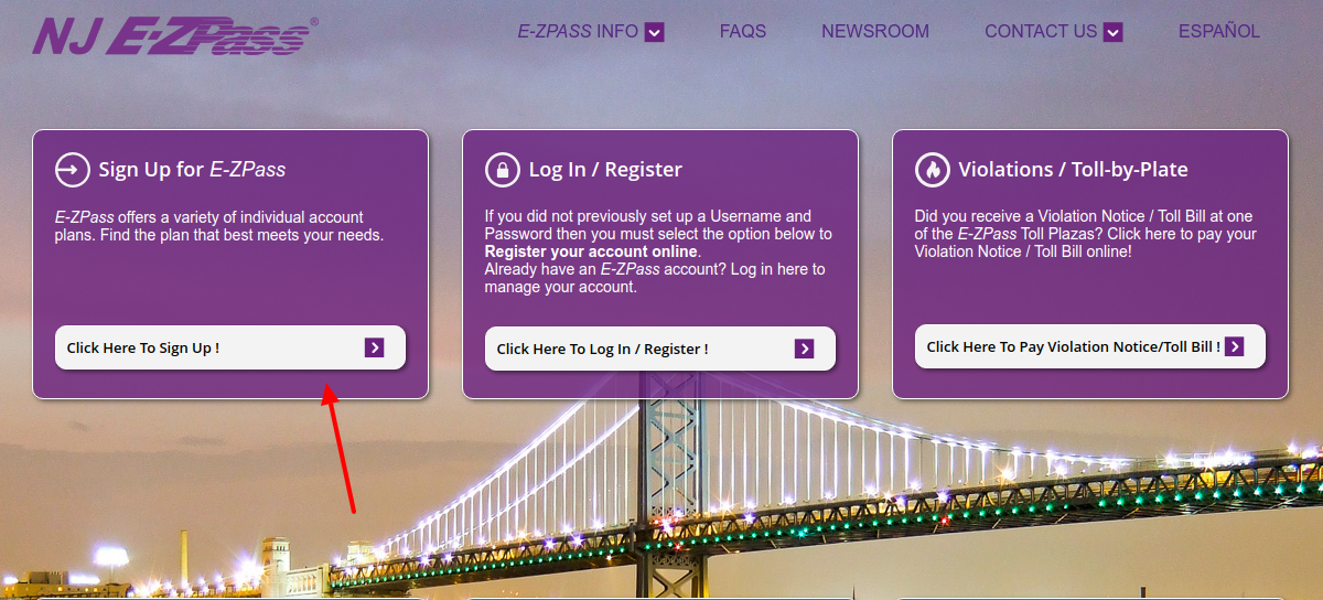 E-ZPass Sign Up