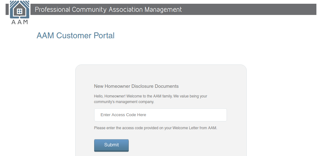 AAM Customer Portal