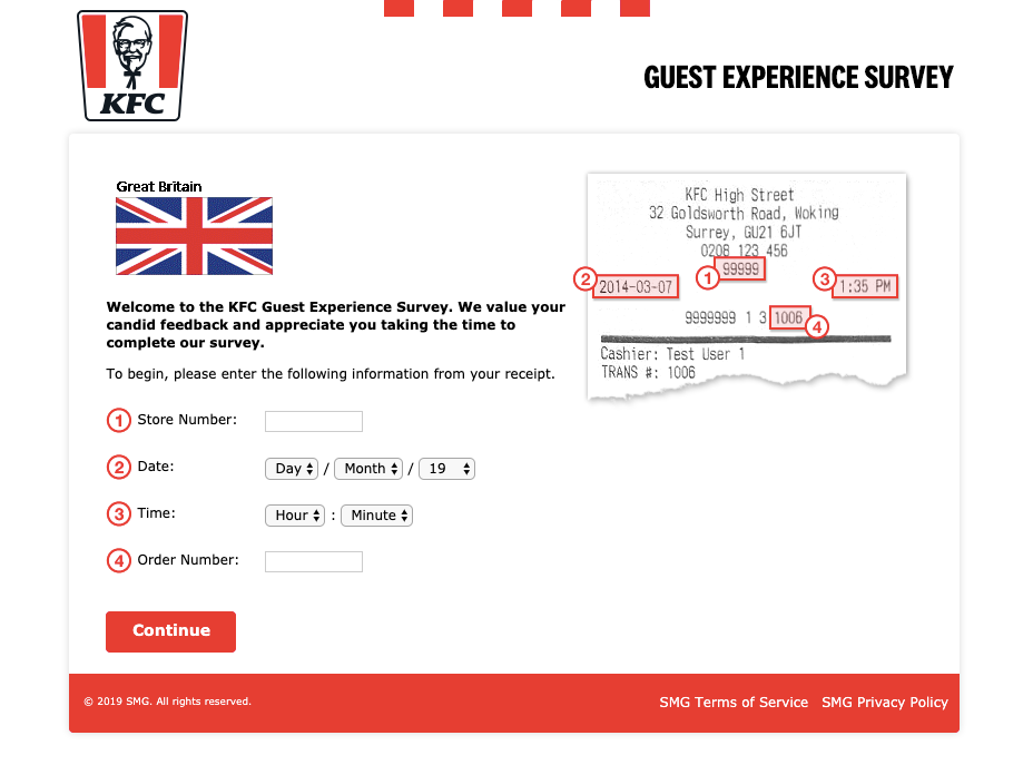 KFC Great Britain Survey