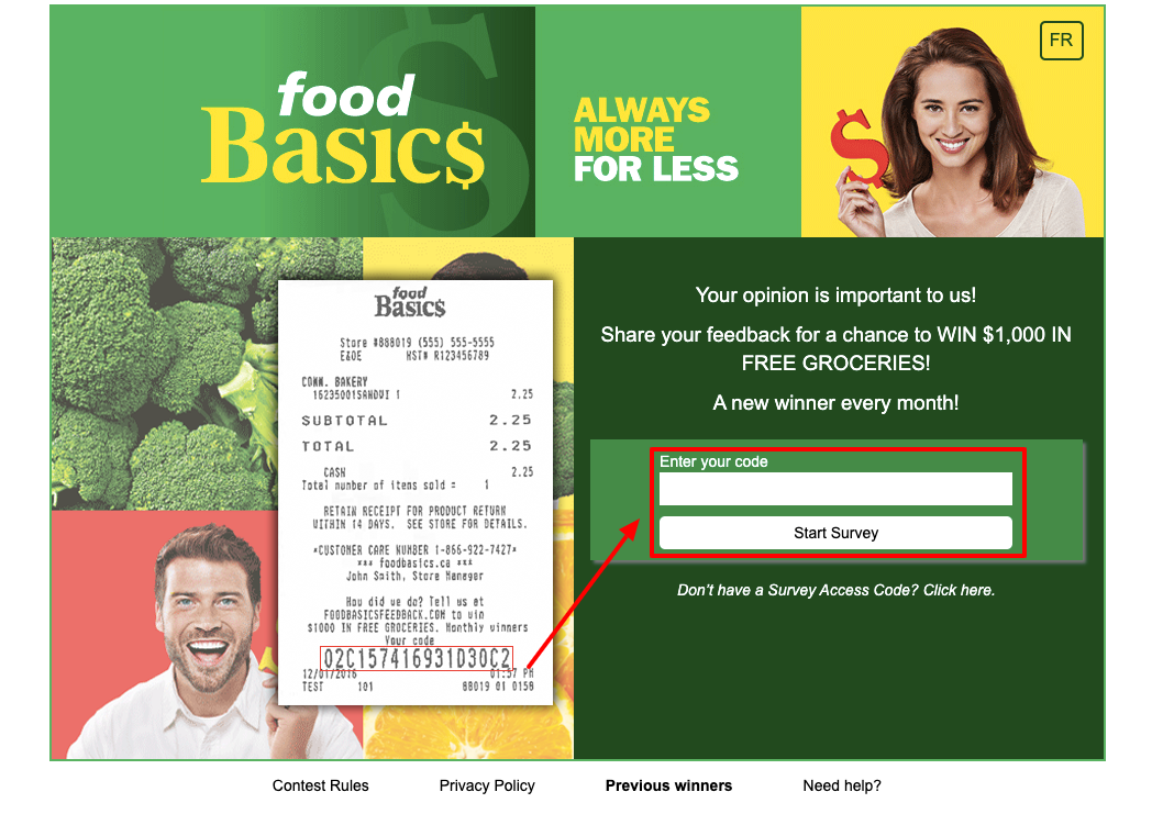 Food Basics Survey