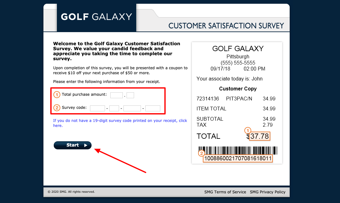 www.tellgolfgalaxy.smg.com - Golf Galaxy Customer Satisfaction Survey