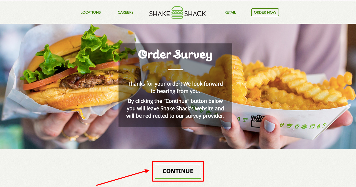 Shake Shack Guest Satisfaction Survey